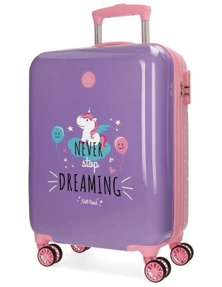 Trolley de cabina Roll Road Unicorn Lila